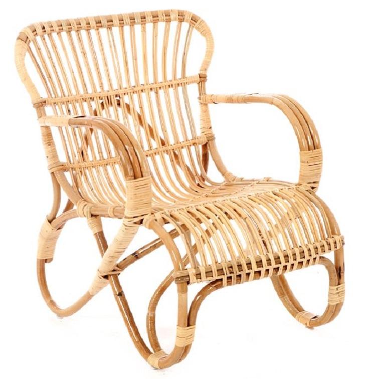 Retro rotan stoel belse lounge stoel design rotan stoel for Tuinstoel rotan