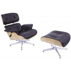 lounge stoel met Hocker EA670 logo
