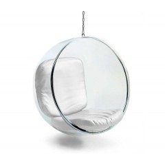 lounge stoel Bubble chair logo