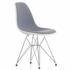 silla de comedor DSR fibra de vidrio tapizado logo