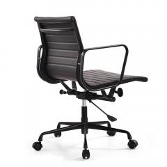 bureaustoel EA117 zwart frame zwart logo