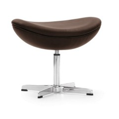 Jacobsen style otomana Egg Chair Ottoman leather logo