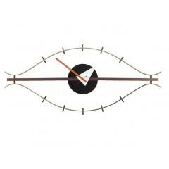 wandklok Eye clock veelkleurig logo