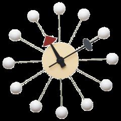 wandklok Ball Klok wit logo