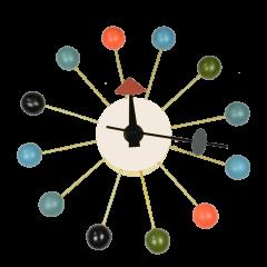 George Nelson style vægur Ball Ur flerfarvet logo