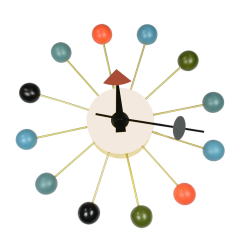 wandklok Ball Klok veelkleurig logo
