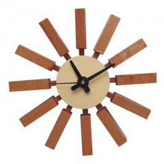reloj de pared Block clock logo