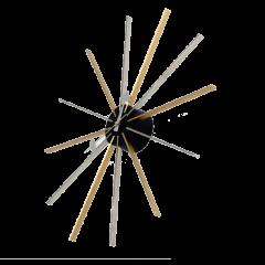 väggklocka Star clock flerfärgad logo
