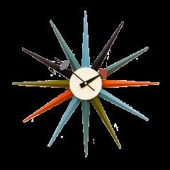 wandklok Starburst clock veelkleurig logo