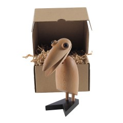 houten pop Klemvogel naturel logo