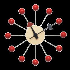 wandklok Ball Klok rood logo