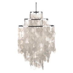 hanglamp Shell style lamp parelmoer logo