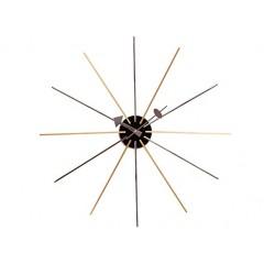 wandklok Star clock veelkleurig logo