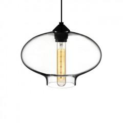 Vintage style hängande ljus Type A glas taklampa transparant logo