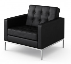 Florence Knoll lounge chair leather black