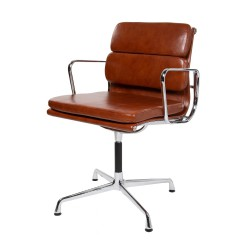 Eames conference chair EA208 leather antique