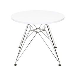 Eames CTR Junior table round white