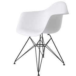 Eames DAR Black Base PP White
