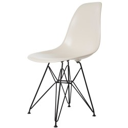 Eames DSR Black Base ABS Cream