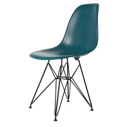 Eames DSR Black Base PP Ocean Blue