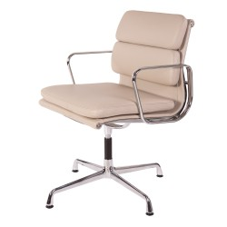 Eames conference chair EA208 leather grey