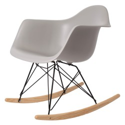 Eames rocking chair RAR Black Base PP Light Grey