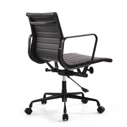 Eames EA117office chair leather black frame back