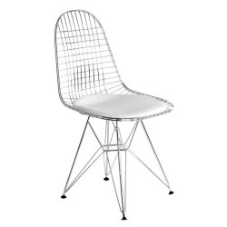 Eames dining chair DKR cushion ivory