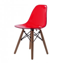 Eames children chair DSW Junior transparent red