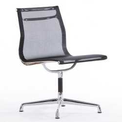 Eames conference chair EA105 on glides mesh black