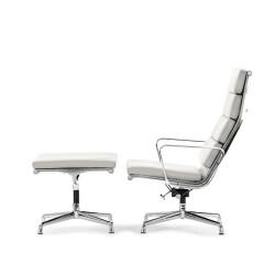 Eames lounge set EA222 leather white