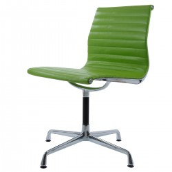 Eames conference chair EA105 on glides leather green