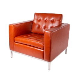 Florence Knoll lounge chair leather cognac