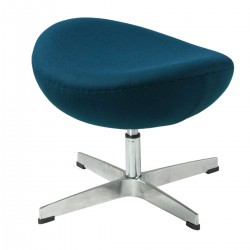 Jacobsen Egg chair footstool darkblue 21