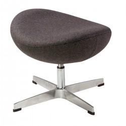 Jacobsen Egg chair footstool grey 30