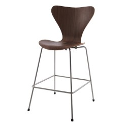 Arne Jacobsen Series 7 Butterfly barstool 66cm walnut