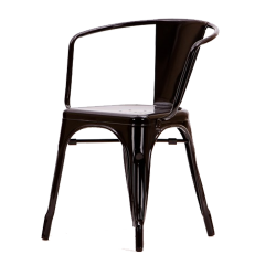Xavier Pauchard Tolix terrace chair with armrests black