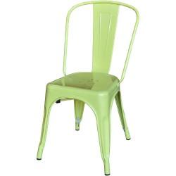 Xavier Pauchard Tolix terrace chair no armrests matt lightgreen