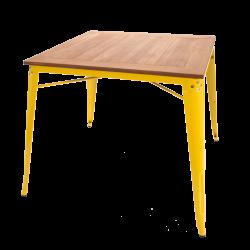 Xavier pauchard square dining table yellow