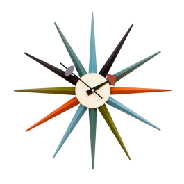 wall clock Starburst clock multicolor