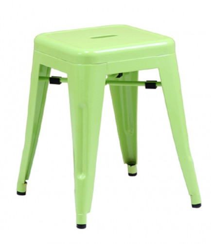 Xavier Pauchard Tolix stool 45cm matt light green