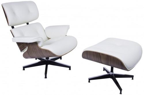 Charles Eames salong Lenestol med Hocker