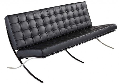 Rohe Barcelona Pavillion 3 Seat Sofa black