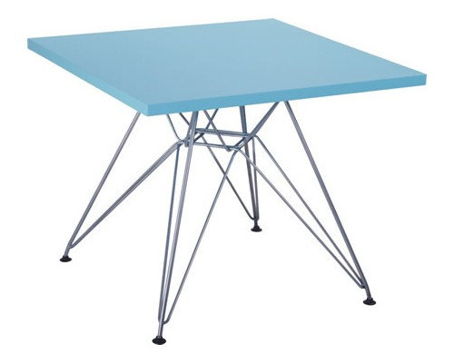 Eames CTR junior table square blue