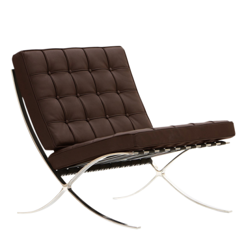 barcelona chair dark brown