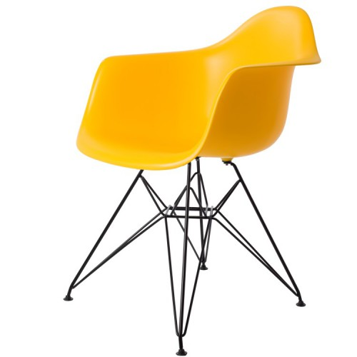 Eames DAR Black Base PP Yellow