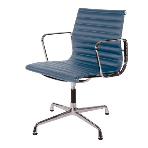 Eames conference chair EA108 leather blue