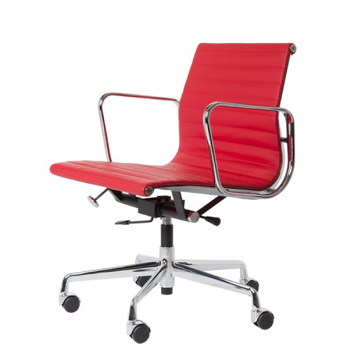 Eames officechair EA117 leather red