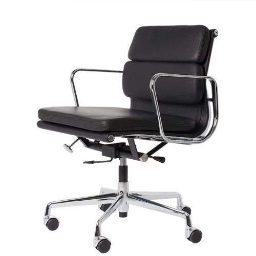 Eames Style EA217 Leather Black