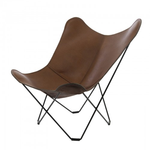 CUERO BUTTERFLY lounge chair leather dark brown